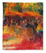 Maturing Sun, Paris Oil On Canvas Fleece Blanket