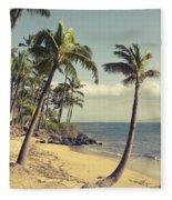 Maui Lu Beach Hawaii Fleece Blanket