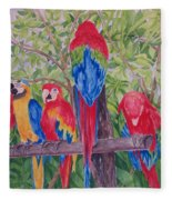 Maui Macaws Fleece Blanket