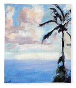 Maui Palms Fleece Blanket