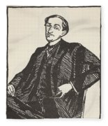Maurice Barres, Copy By Boris Fleece Blanket