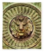 Mausoleum Lion Fleece Blanket