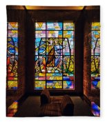 Mausoleum Stained Glass 01 Fleece Blanket