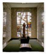 Mausoleum Stained Glass 04 Fleece Blanket