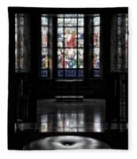 Mausoleum Stained Glass 05 Fleece Blanket