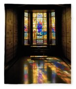 Mausoleum Stained Glass 06 Fleece Blanket