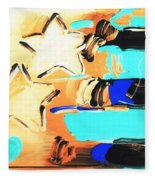 Max Americana In Inverted Colors Fleece Blanket