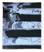 Max Stars And Stripes In Cyan Fleece Blanket