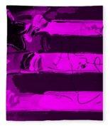 Max Stars And Stripes In Purple Fleece Blanket