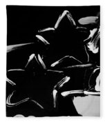 Max Two Stars In Black And White Fleece Blanket