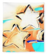 Max Two Stars In Inverted Colors Fleece Blanket