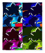 Max Two Stars In Pf Quad Colors Fleece Blanket