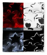 Max Two Stars In Quad Colors Fleece Blanket