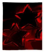 Max Two Stars In Red Fleece Blanket