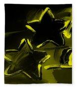 Max Two Stars In Yellow Fleece Blanket