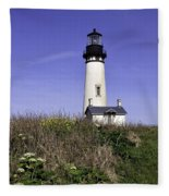 May At The Lighthouse Fleece Blanket