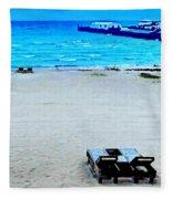 May Beach At Mackinaw Fleece Blanket