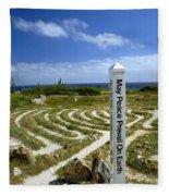 May Peace Prevail On Earth Peace Labyrinth Aruba Fleece Blanket