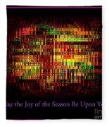 May The Joy Of The Season Be Upon You - Christmas Lights - Holiday And Christmas Card Fleece Blanket