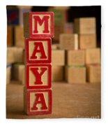 Maya - Alphabet Blocks Fleece Blanket