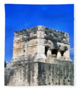 Mayan Ruins Fleece Blanket