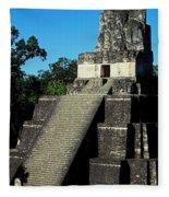 Mayan Ruins - Tikal Guatemala Fleece Blanket
