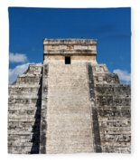 Mayan Temple Pyramid At Chichen Itza Fleece Blanket