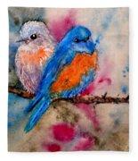 Maybe She's A Bluebird Cropped Fleece Blanket