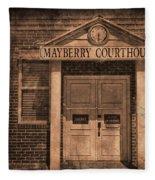 Mayberry Courthouse Fleece Blanket