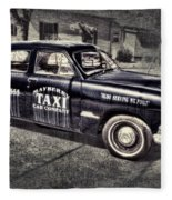 Mayberry Taxi Fleece Blanket