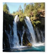 Mcarthur-burney Falls 1 Fleece Blanket