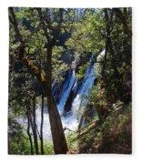 Mcarthur-burney Falls Side View Fleece Blanket