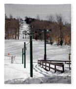 Mccauley Mountain Ski Area Vi- Old Forge New York Fleece Blanket