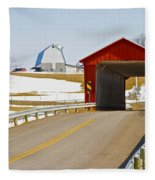 Mccolly Covered Bridge Fleece Blanket