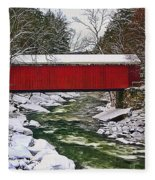 Mcconnells Covered Bridge Fleece Blanket