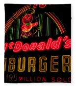 Mcdonalds Sign Fleece Blanket