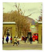Mcgill University Roddick Gates Class Of 2013 Winter Semester Montreal Collectible Prints C Spandau Fleece Blanket