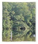 Mckamey Lake Calm Reflections Fleece Blanket