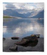 Mcdonald Lake Fleece Blanket