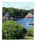 Round Pond Scene Fleece Blanket