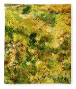 Meadow After Van Gogh Fleece Blanket