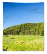 Meadow And Forest Fleece Blanket