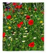 Meadow Flowers - Digital Oil Fleece Blanket