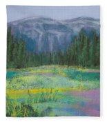 Meadow In The Cascades Fleece Blanket