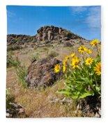 Meadow Of Arrowleaf Balsamroot Fleece Blanket