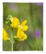 Meadow Vetchling Wild Flower Fleece Blanket