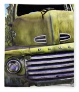 Mean Green Ford Truck Fleece Blanket