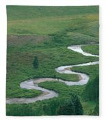Meandering East River Fleece Blanket