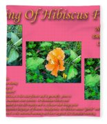 Meaning Of Hibiscus Flowers Fleece Blanket