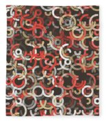 Mechanic Geometric Circle Segment Pattern Fleece Blanket
